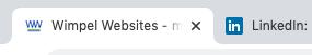 Favicons zoals je die ziet in browser tabs